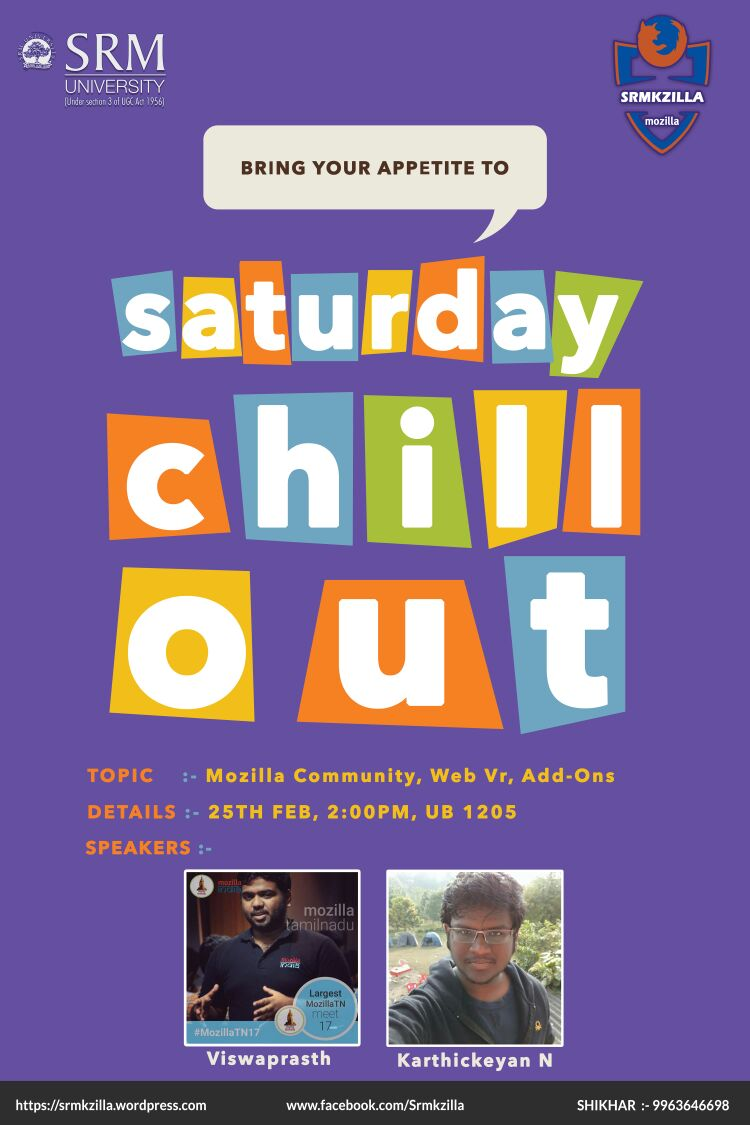 Saturday Chill Out - Mozilla,Web VR,Addons